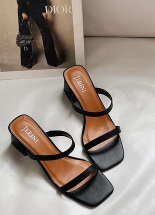 Шлёпанцы на удобном каблуке
