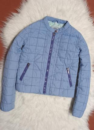 Весеннее осенняя стёганая куртка для девочки 8-10лет