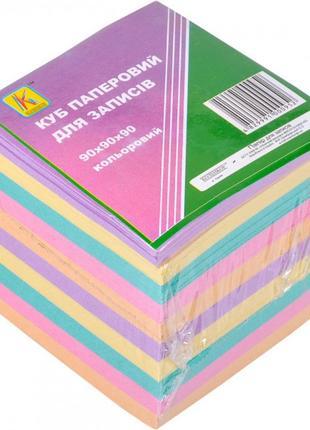 Папір для нотаток 900 аркушів, кольоровий офсет, 90 * 90мм