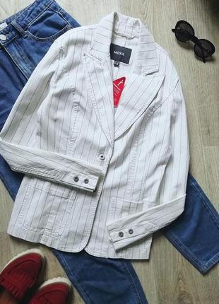 Стильный удлинённый джинсовый пиджак оверсайз, жакет, удлинённый блейзер, джинсовая куртка, джинсовый пиджак