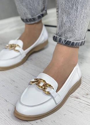 Балетки туфли натуральная кожа женские