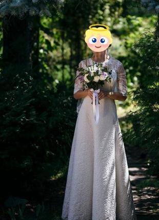 На 48кг s шикарное свадебное платье. очень нежное) кружевное