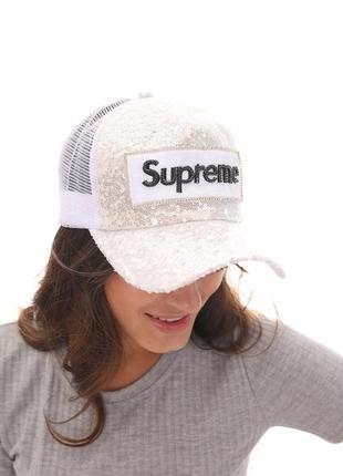 Белая кепка , кепка с козырьком, бейсболка 57 , женская бейсболка2 фото