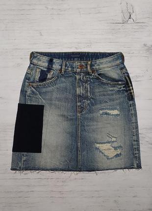Scotch & soda original джинсовая юбка спідниця