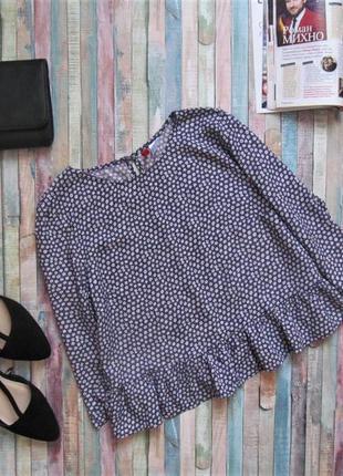 Незвичайна вкорочена блуза у яскравий принт, блуза з воланами
