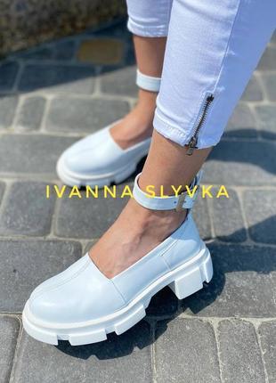 Туфлі з ремінцем  натуральна шкіра / підклад шкіра