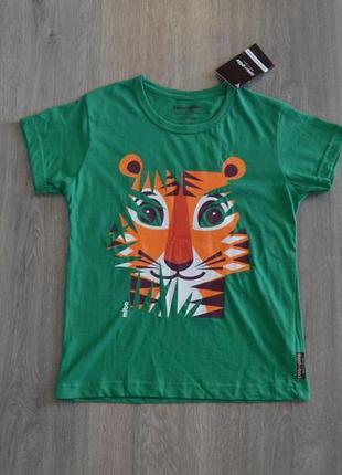 Новая футболка ф. coqenpate р. 6-7 лет органический хлопок