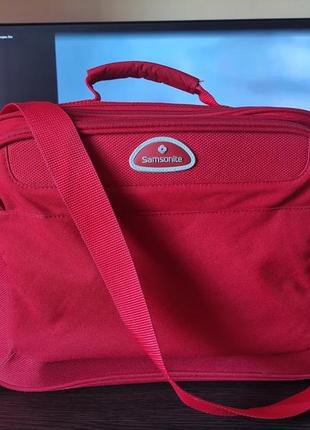 Samsonite сумка красная дорожная / ноутбука на плечо портфель