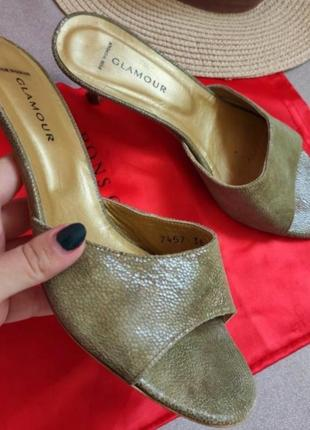 Итальянские мюли  босоножки сандали натуральная кожа