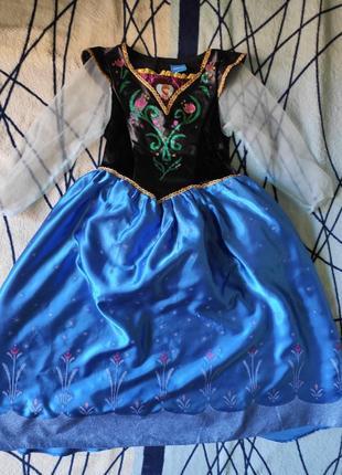 Карнавальное платье анны на 7-8лет