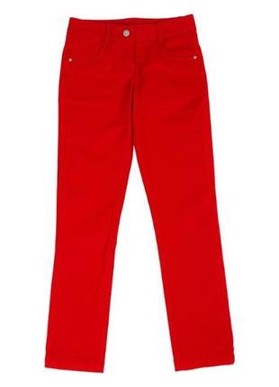 Стильні яскраві червоні жіночі брюки штани xs-s