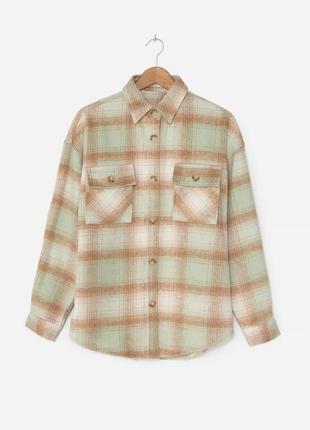 Куртка рубашка в клетку оверсайз