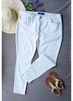 Большой размер. узкие белые джинсы boden.