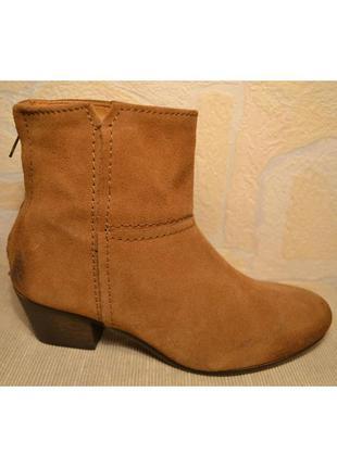 """Р.36,5-37 испания, """"mango"""", 100% натуральная кожа! стильные, комфортные ботинки ботильоны"""