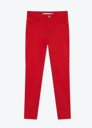 Zara брендові жіночі червоні джинси скінні xs-s оригінал