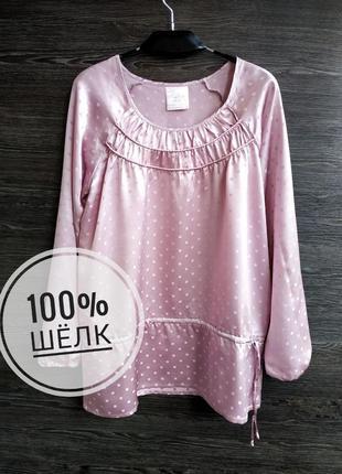 Красивая блуза туника из натурального шёлка tcm tchibo.
