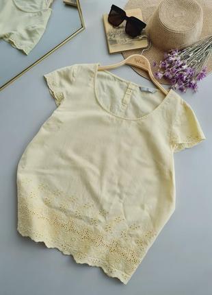 Блуза лён-коттон( нюанс)