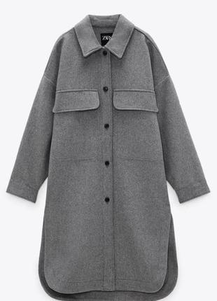 Шикарне пальто-рубашка від zara