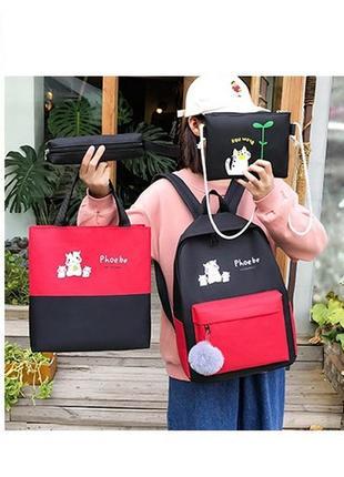 Рюкзак жіночий, набір 4в12 фото