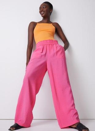 H&m летние широкие брюки из вискозы