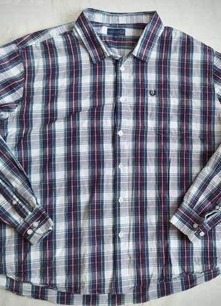 Рубашка мужская lincoln с длинными рукавами в клеточку