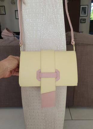 Маленькая сумочка,италия,натуральная кожа