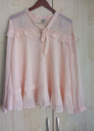 Роскошная нежная блуза-разлетайка