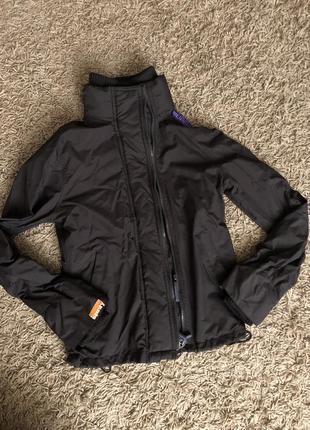 Брендова курточка вітровка роз s-xs superdry