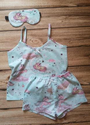 Хлопковая пижама, детская пижамка. пижамка для девочки, единорожки