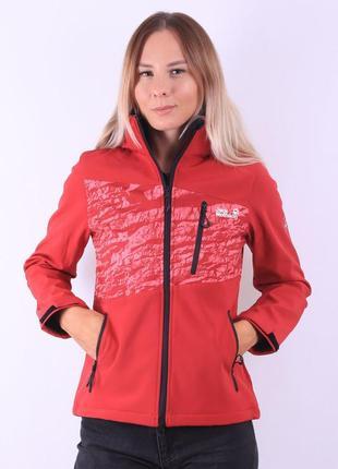 Куртка красная jack wolf
