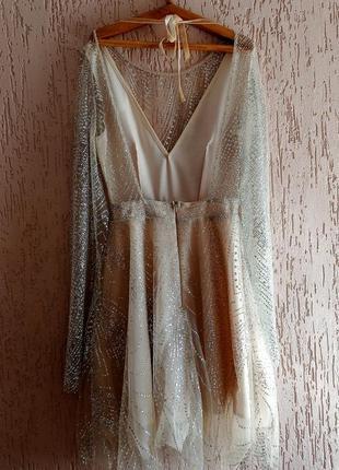 Вечернее платье с открытой спиной3 фото