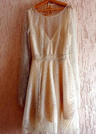 Вечернее платье с открытой спиной4 фото