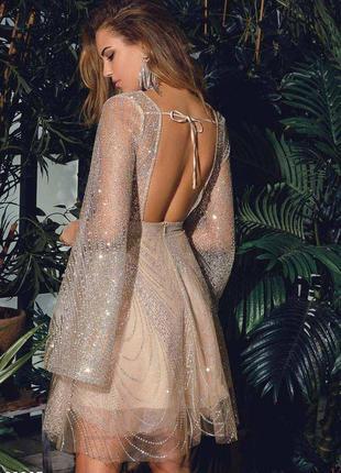 Вечернее платье с открытой спиной6 фото