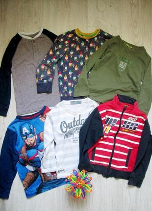 Пакет вещей на мальчика 116-122 см. кофты,регланы. 5-6 лет. цена за все!