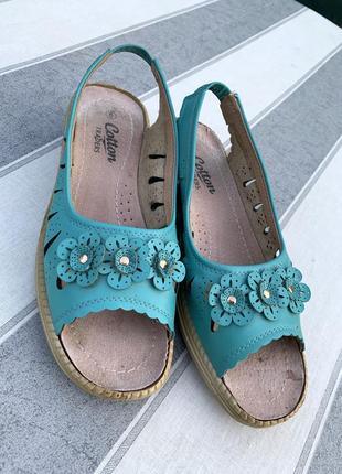 👣отличные сандали./cotton/eu 38-39/25cm/состояние хорошее..👣