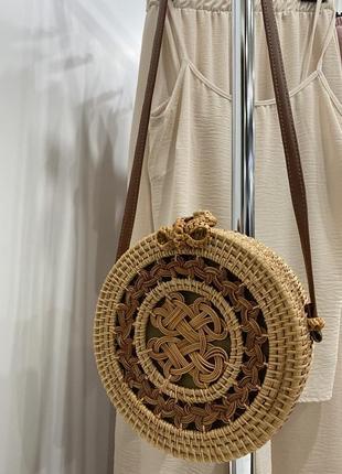 Классная летняя  соломенная сумка бали