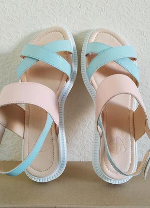 Літній розпродаж!!!стильні босоніжки з натуральної шкіри. р-ри 36-40 україна