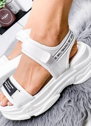 Літній розпродаж!!!стильні спортивні босоніжки на платформі!!! р-ри 36-37