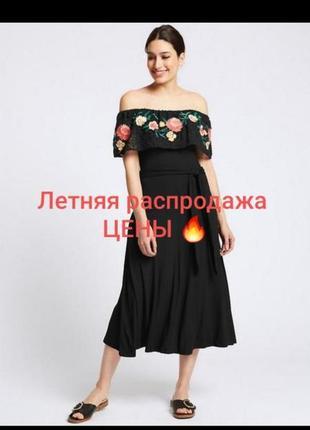 80% хлопок красивое платье с вышивкой большого размера