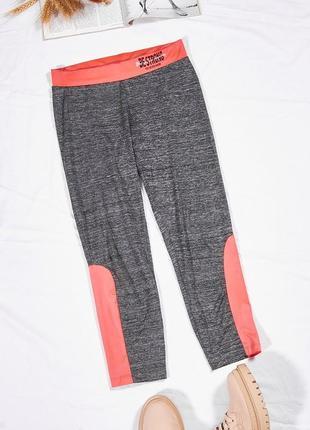 Спортивные лосины серые, спортивные штаны серые, спортивные капри серые