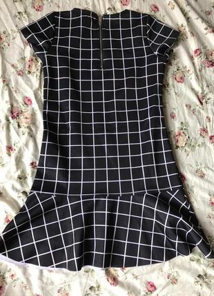 Платье короткое с заниженной талией