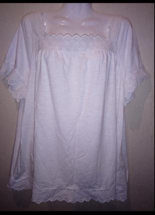 🌺 🌿 🍃 футболка /блуза хлопок /большой размер 🌺 🌿 🌼