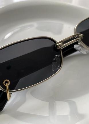 Солнцезащитные очки gentle monster с сережкой пирсинг