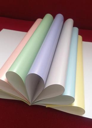 Набір пастельного кольорового паперу 8 аркушів