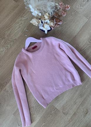 Шерстяной свитер hugo boss нежно розового цвета