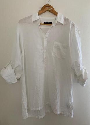 Льняная рубашка, мужская рубашка с длинными рукавами, рубашка xxl, летняя рубашка