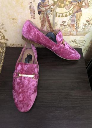 Креативные велюровые туфли британского бренда river island