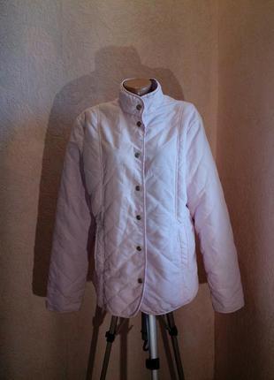 Скоро осень!розово-сиреневая стеганная куртка