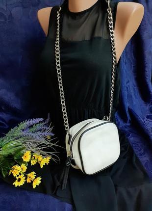 Сумка сумочка квадрат квадратная с длинным плечевым ремнем цепочкой