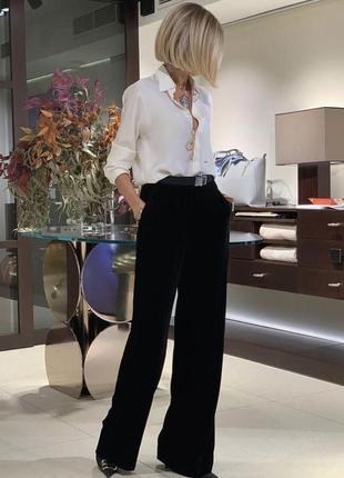 Базоаые брюки штаны клеш с  с широким поясом